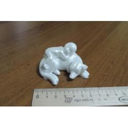Форма 3D Малыш на собаке
