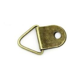 Уголок для подвешивания фоторамок, цвет античная бронза, размеры 13х21 мм.