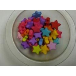 Бусины Звезда цветные, диаметр 9 мм.