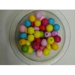 Бусины цветные, диаметр 8 мм.