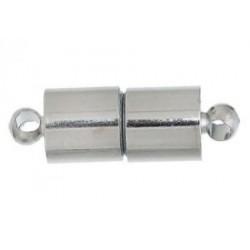 Застёжка магнитная Цилиндр, цвет серебро