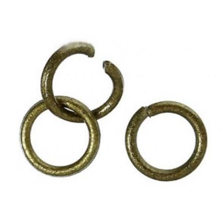 Колечки разрезные, цвет античная бронза, диаметр 4 мм.