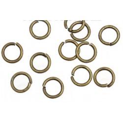 Колечки разрезные, цвет античная бронза, диаметр 5 мм.