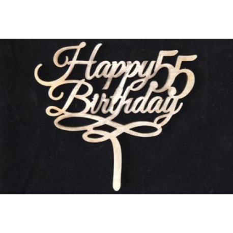 Заготовка для декупажа Топпер Happy Birthday 55