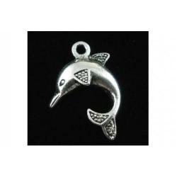 Подвеска Дельфин, античное серебро
