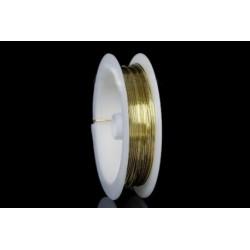 Ювелирный тросик, цвет золото, диаметр 0,5 мм
