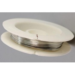 Ювелирный тросик, цвет античное серебро, диаметр 0,6 мм