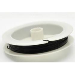 Ювелирный тросик, цвет черный, диаметр 1 мм