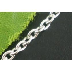 Цепочка 02, цвет серебро, размеры 2х3 мм