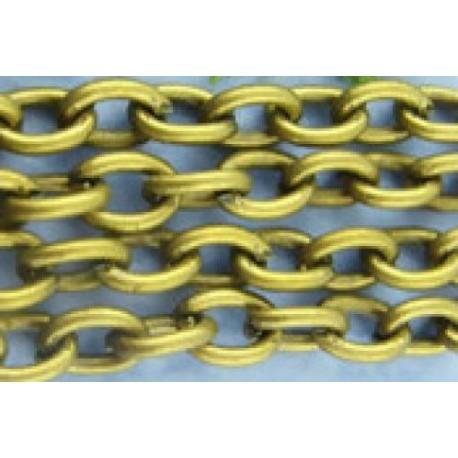 Цепочка для бижутерии 03, цвет античная бронза, размеры 3х4 мм