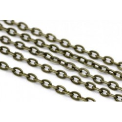 Цепочка для бижутерии 07, цвет античная бронза, размеры 2х3 мм