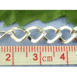 Цепочка Квадратик, цвет серебро, размеры 7х8 мм