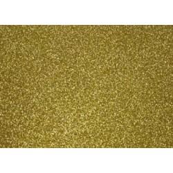 Глиттерный фоамиран золотой