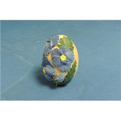 Форма 3D Яйцо с фиалками