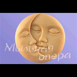 Форма 3D Луна и Солнце