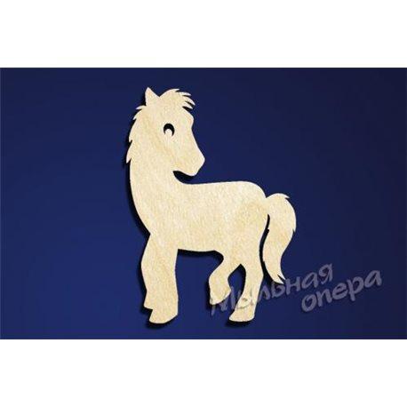 Заготовка для декупажа Бирка Лошадь 8