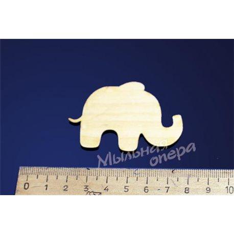 Заготовка для декупажа Бирка Слон 3