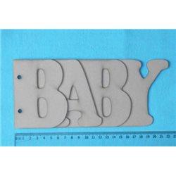 Заготовка для скрапбукинга Альбом BABY, размеры 10х22 см, 4 листа