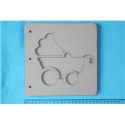 Заготовка для скрапбукинга Альбом Детская коляска, размеры 20х20 см, 5 листов
