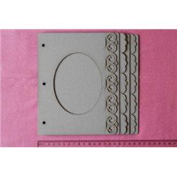 Заготовка для скрапбукинга Альбом Овал, размеры 20х20 см, 6 листов