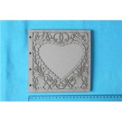 Заготовка для скрапбукинга Альбом Сердце 1, размеры 18х18 см, 5 листов