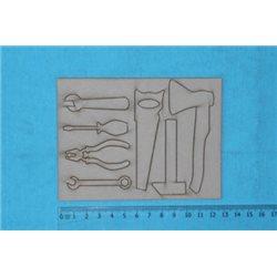 Заготовка для скрапбукинга Чипборд Инструменты, размеры 10х10 см