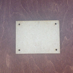 Заготовка для триптиха МДФ, размер 09х12 см