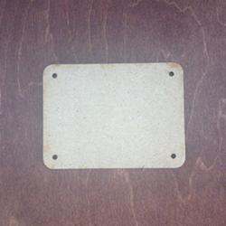Заготовка для триптиха МДФ 09х12 см с закруглениями