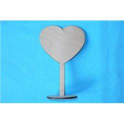Заготовка для декупажа Подставка Сердце, размеры 10х15 см