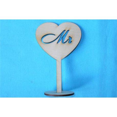 Заготовка для декупажа Подставка Сердце Mr, размеры 10х15 см