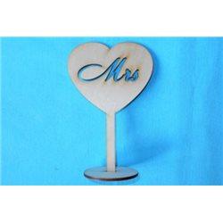 Заготовка для декупажа Подставка Сердце Mrs, размеры 10х15 см