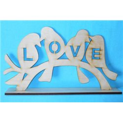 Заготовка для декупажа Подставка Love, размеры 4х17х30 см