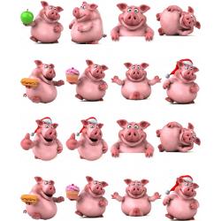 Картинки на водорастворимой бумаге Свинки 3