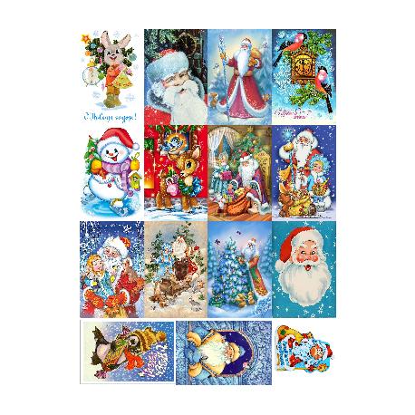 Картинки на водорастворимой бумаге Новый год 10 Волнушка