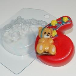 Форма ПВХ 6 с мишкой