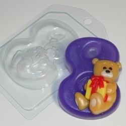 Форма ПВХ 8 с мишкой