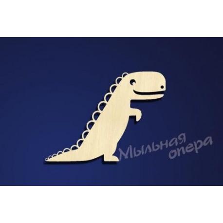 Заготовка для декупажа Бирка Динозаврик 3