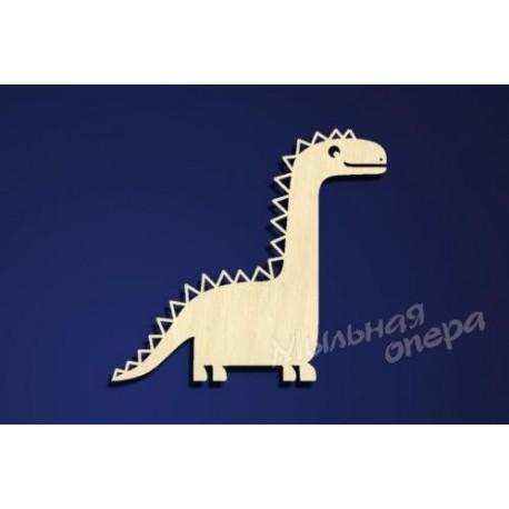 Заготовка для декупажа Бирка Динозаврик 4
