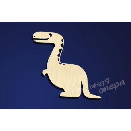 Заготовка для декупажа Бирка Динозаврик 5