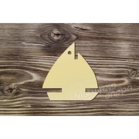 Заготовка для декупажа Бирка Кораблик 1