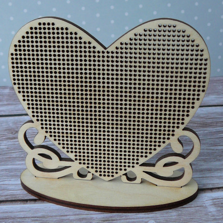 Заготовка для вышивки «Сердце»