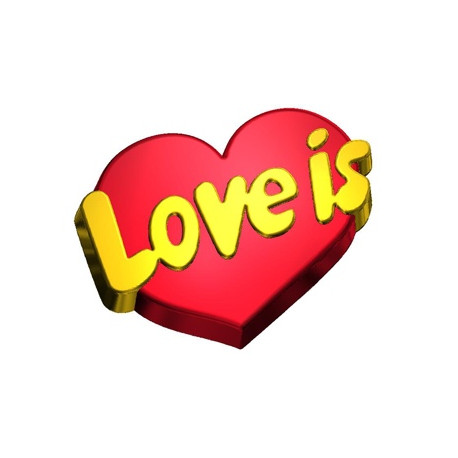 Форма ПВХ Love is