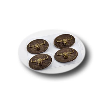 Форма для шоколада 4 быка