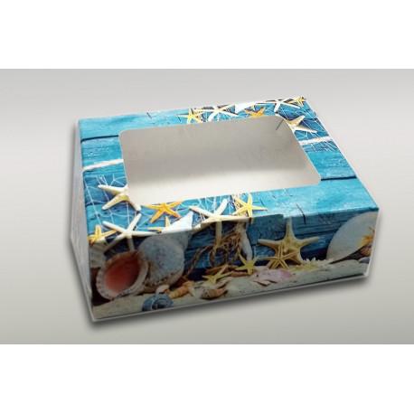 Коробочка цветная Морская 15*11*4