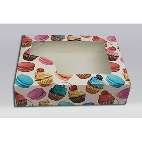 Коробочка цветная Пирожные 15*11*4
