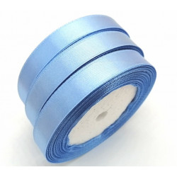 Лента атласная, 12 мм, голубая
