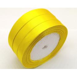 Лента атласная, 12 мм, желтая