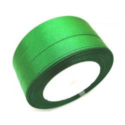 Лента атласная, 12 мм, зеленая