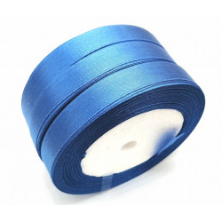 Лента атласная, 12 мм, синяя