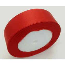 Лента атласная, 25 мм, красная